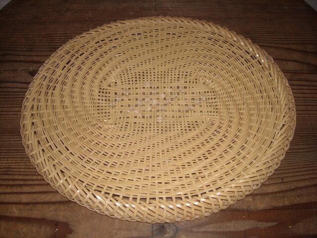 真竹の蕎麦ざる(楕円)の画像1枚目