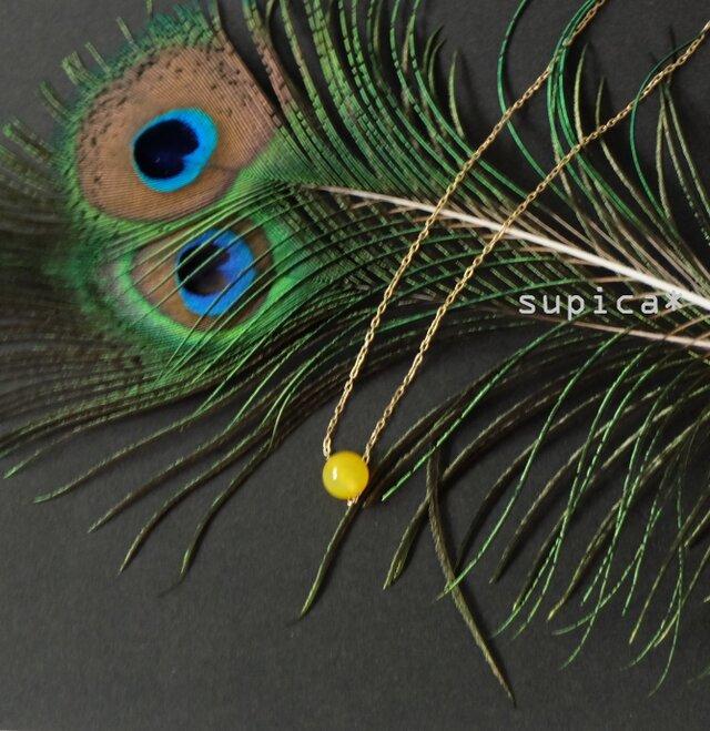 s132 G148 イエローメノウのネックレスの画像1枚目
