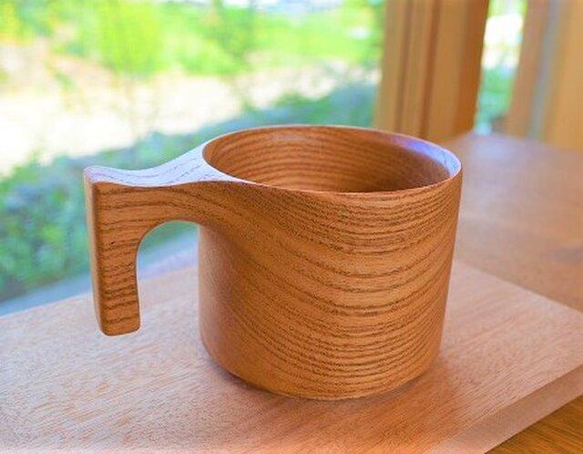【新登場】たっぷり入る 木製マグカップ wooden mag 栴檀(せんだん) 0049の画像1枚目
