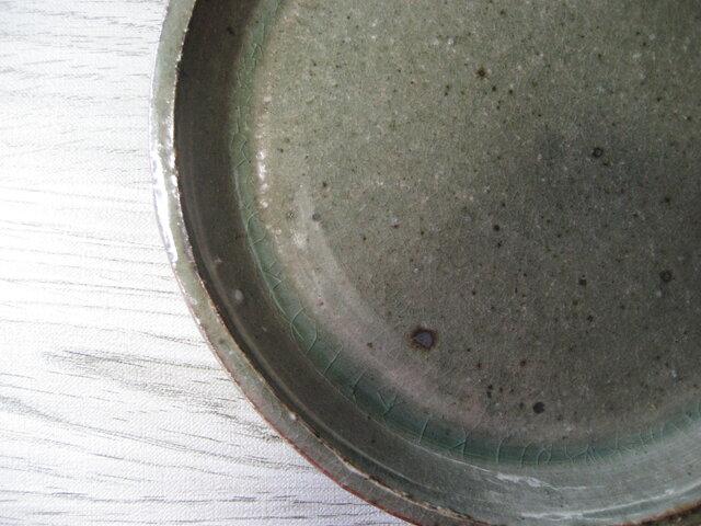 しのぎ 伊賀灰平皿の画像1枚目