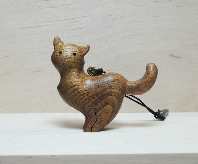 小さな猫のストラップ №1の画像1枚目