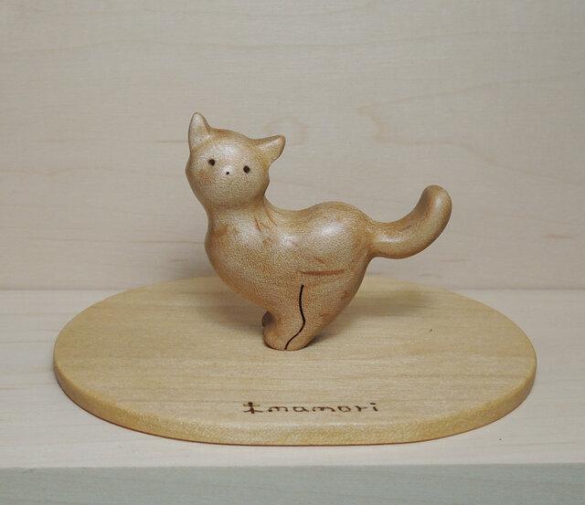 小さな猫の置物 №1(台付)の画像1枚目