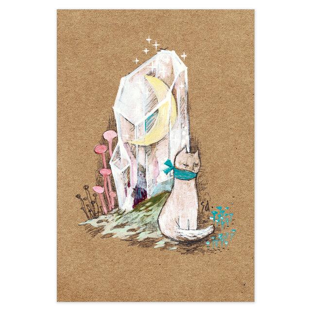 選べるポストカード/2枚セット『No.268 水晶月の丘』の画像1枚目