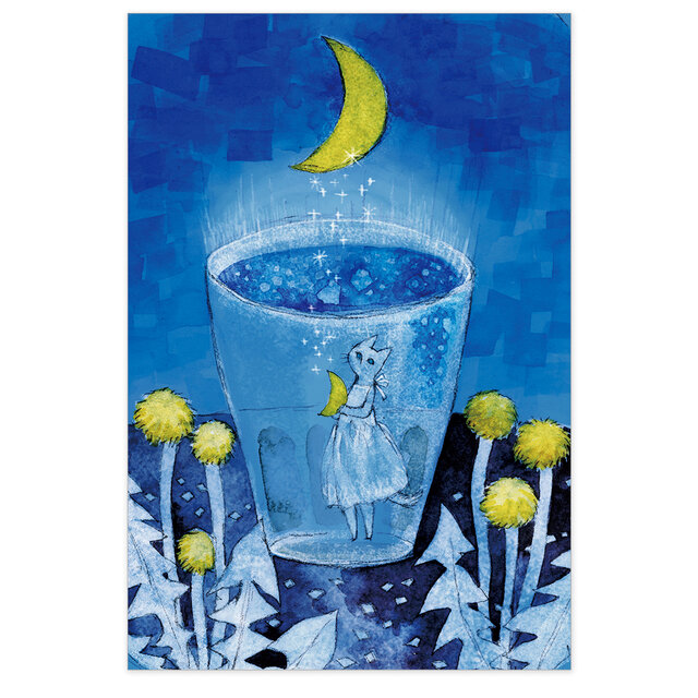 選べるポストカード/2枚セット『No.267 Night Soda-月の呟き』の画像1枚目
