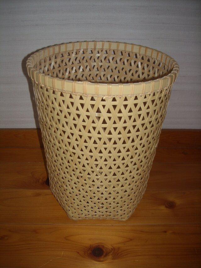 麻の葉編みくずかごの画像1枚目