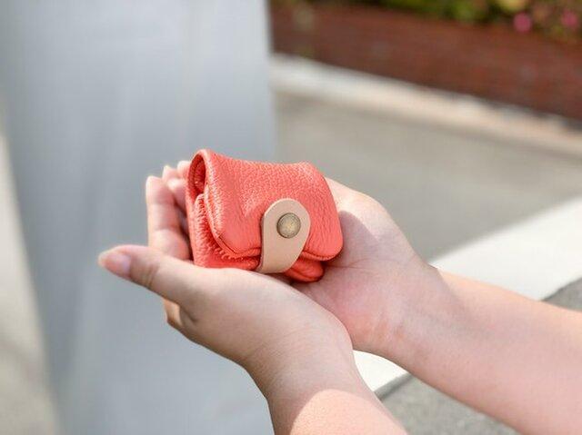 ▲CORONT トマトクリームなまったりレッド「コロント コインケース」収納たっぷり(CPC-RRW)の画像1枚目