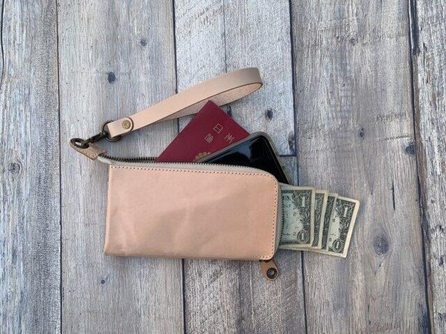 ▲PETANT 純粋で素朴なナチュラルヌメ「ペタントマルチ 財布」デイリーユース(PMW-WWWW-W)の画像1枚目