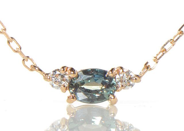 K18 アレキサンドライト×ダイヤモンド ペンダント K18ピンクゴールド YK-BA023CIの画像1枚目