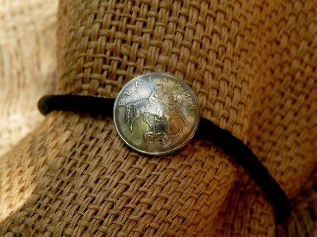 #H27 Bulgaria Coin Hair Elasticの画像1枚目