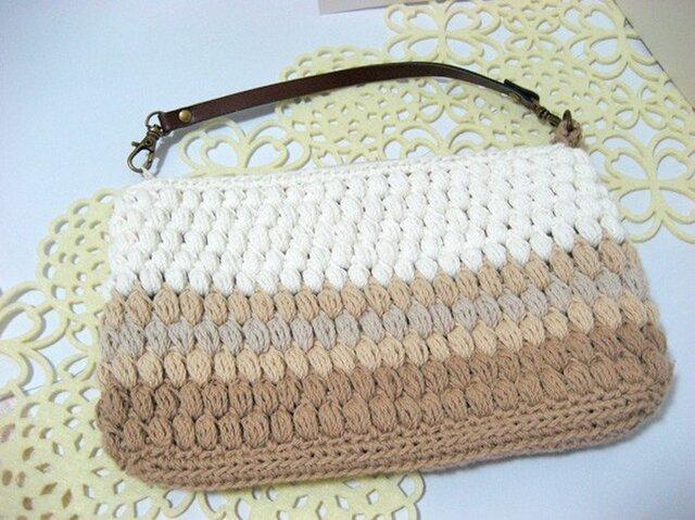玉編みのファスナーポーチ <Lサイズ>の画像1枚目