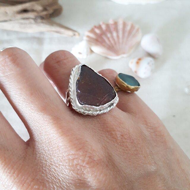 【11号】silver925 seaglass ringの画像1枚目