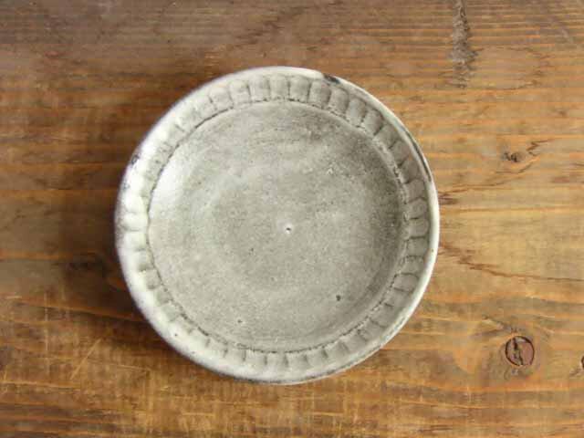 しのぎ手皿(わら灰)の画像1枚目
