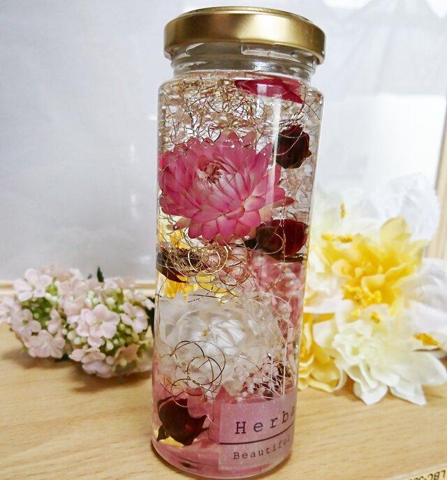 ☆ハーバリウム ピンク系①☆の画像1枚目