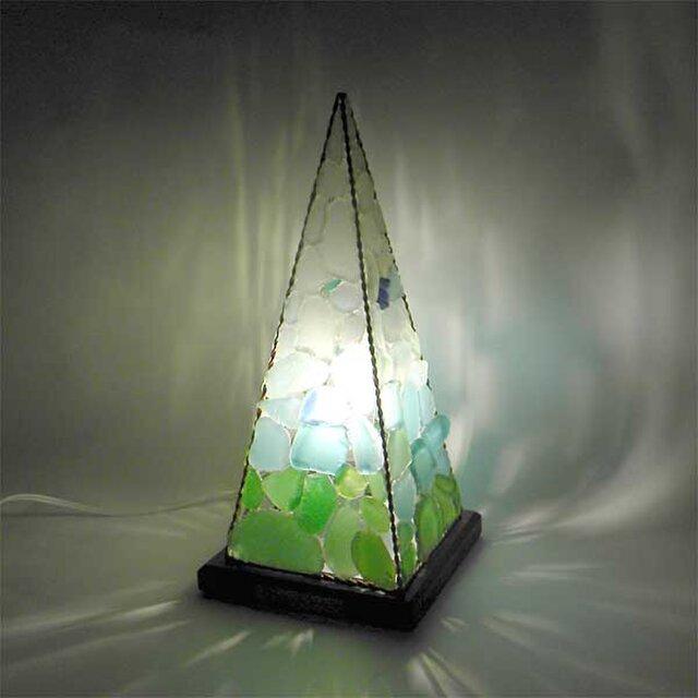 シーグラスランプ ピラミッドランプ L-14の画像1枚目