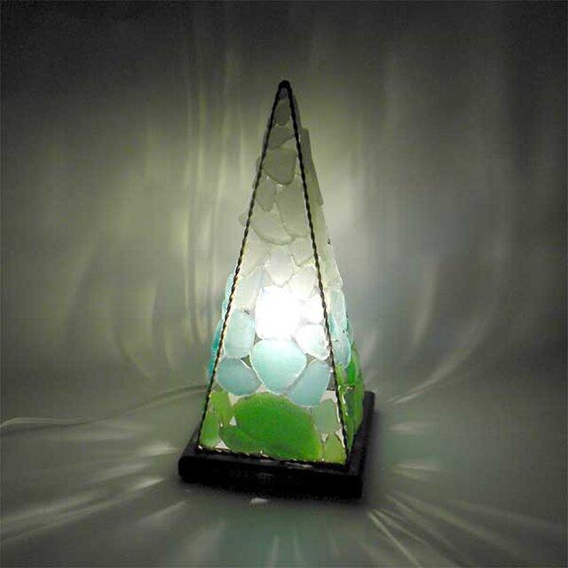 シーグラスランプ ピラミッドランプ L-15の画像1枚目