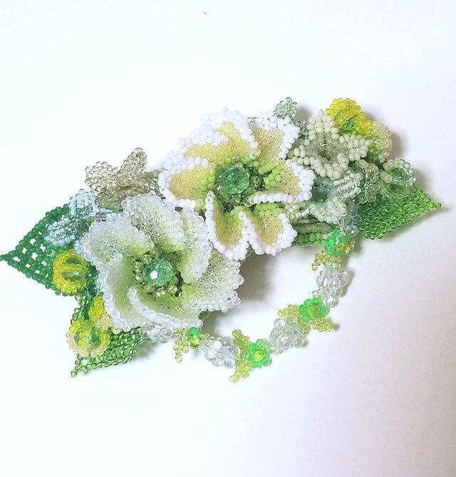 バレッタ Bouquet  (ミントアネモネ)の画像1枚目
