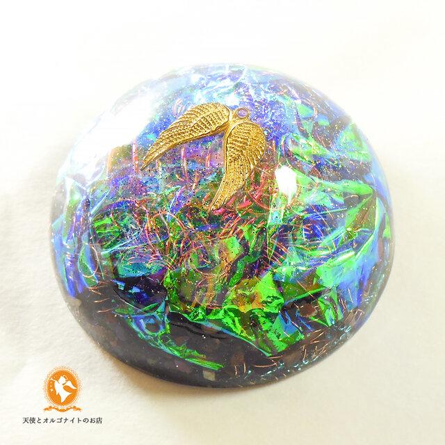 [受注制作]大天使ミカエルのハグ グレートセントラルサン オルゴナイトの画像1枚目