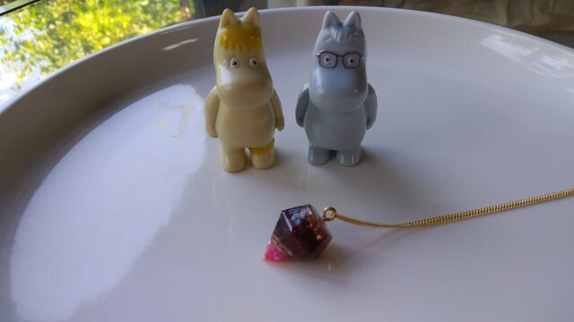 オルゴナイト(ガーネット)のネックレスの画像1枚目
