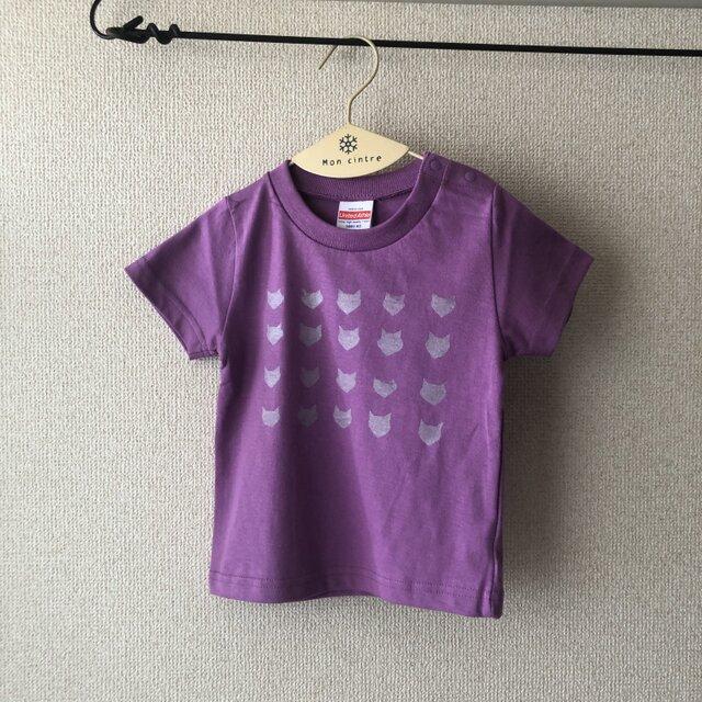 キッズTシャツ シルクスクリーン cat(シルバー) 90の画像1枚目