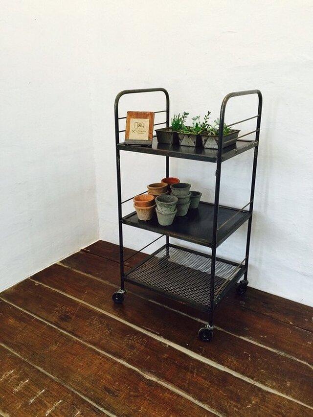 数量限定 FWIWG インダストリアル アイアン 棚 キッチン ワゴン エステワゴン カート ディスプレイ 美容室の画像1枚目