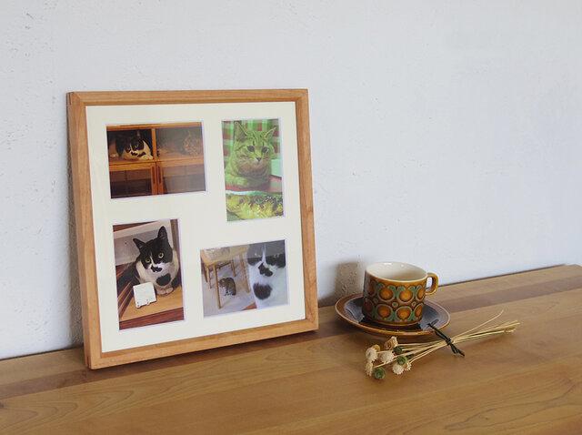NARROWフレーム マット付き(写真L判×4枚)チェリーの画像1枚目