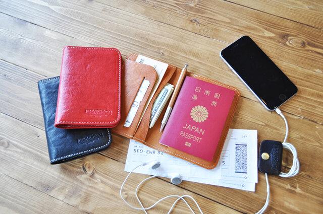 【ショートタイプ】本革パスポートホルダー/栃木レザー3色展開の画像1枚目