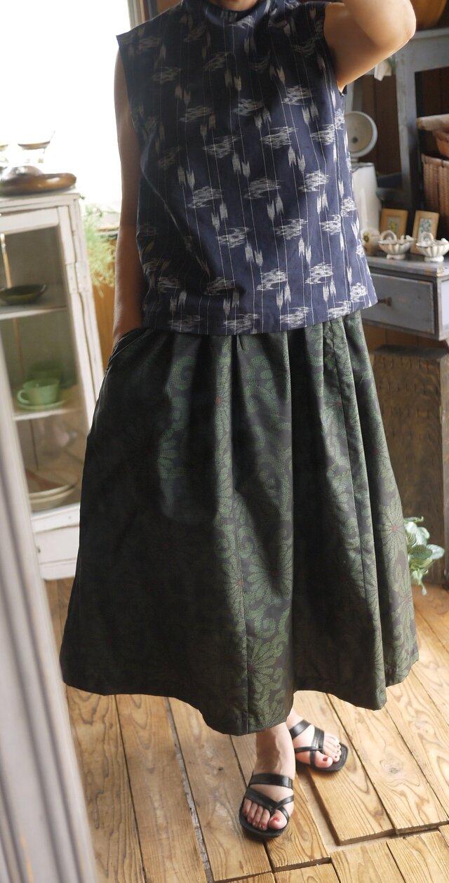 大島紬からギャザースカートの画像1枚目