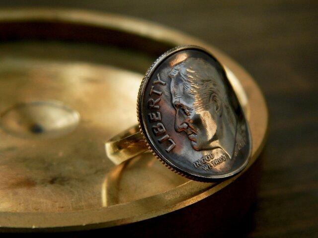 #R32 USA coin ringの画像1枚目