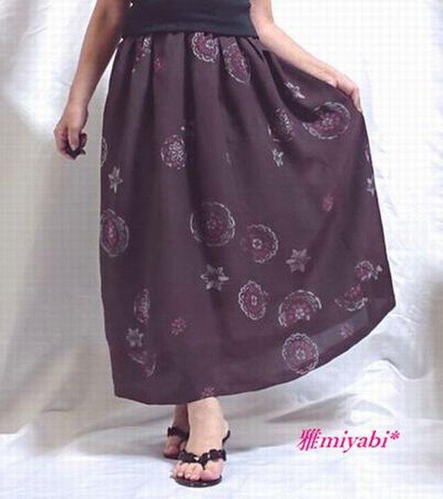 1点もの☆裏付*秋色*絹アンティーク着物スカートの画像1枚目