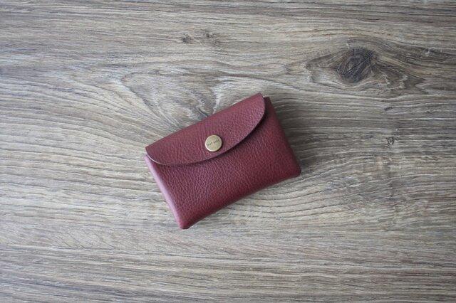 イタリア製牛革のミニ財布 / ワインの画像1枚目