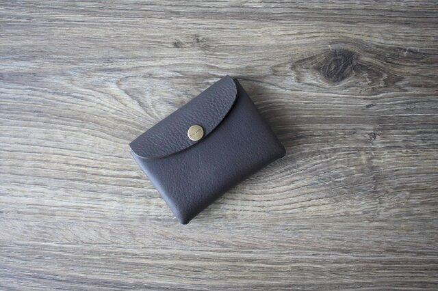 イタリア製牛革のコンパクト財布 S / グレー※受注製作の画像1枚目