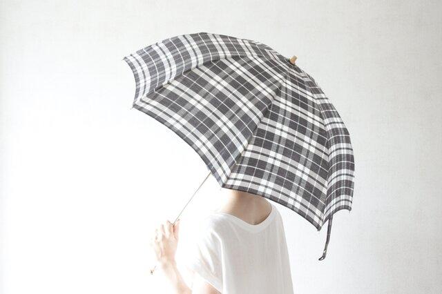 折りたたみ日傘 黒マドラスの画像1枚目