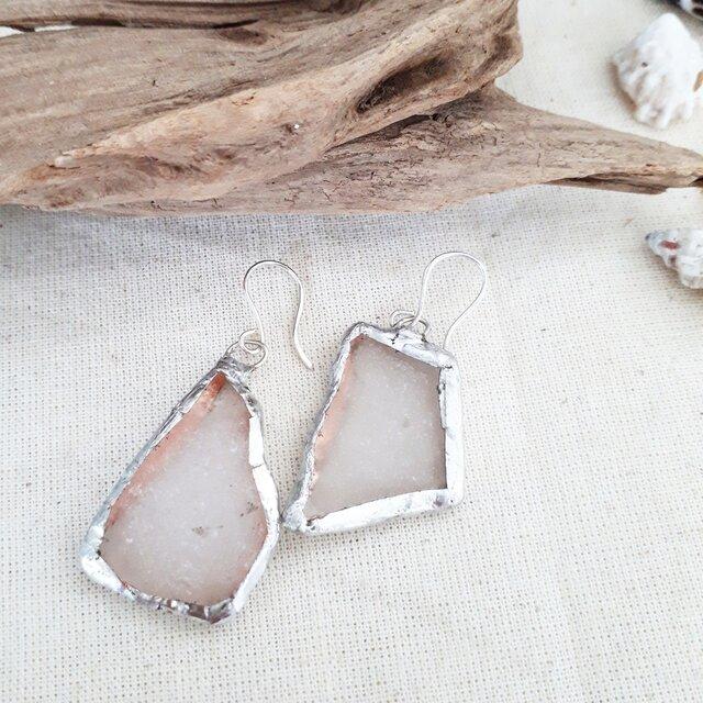 海辺の宝石⭐seaglass pierceの画像1枚目