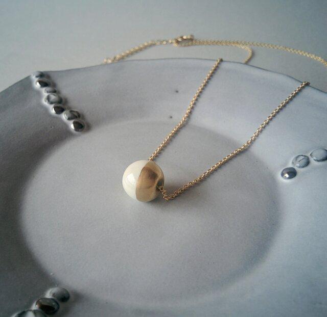 とうきの○ネックレス(白と金)の画像1枚目