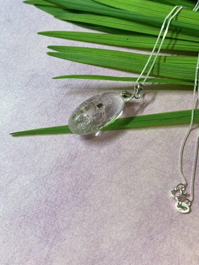 水入り水晶ネックレス[シルバー925]の画像1枚目