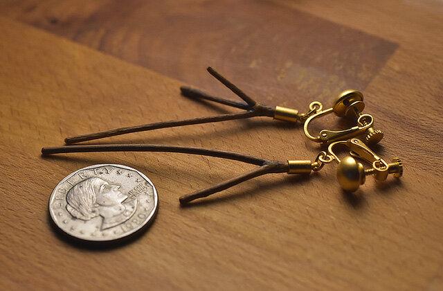 【限定品】自然の小枝のイヤリング/ピアス 0451の画像1枚目