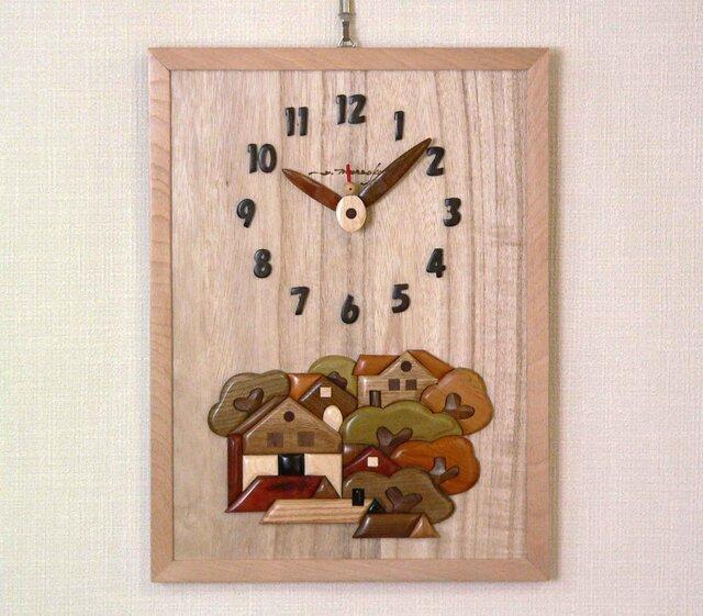 Woody picture & clock  森の家の画像1枚目