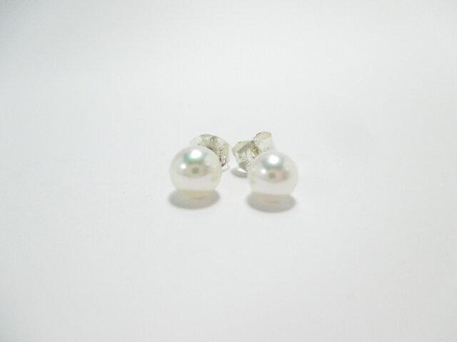 【Akoya Pearl pierced earrings y】の画像1枚目