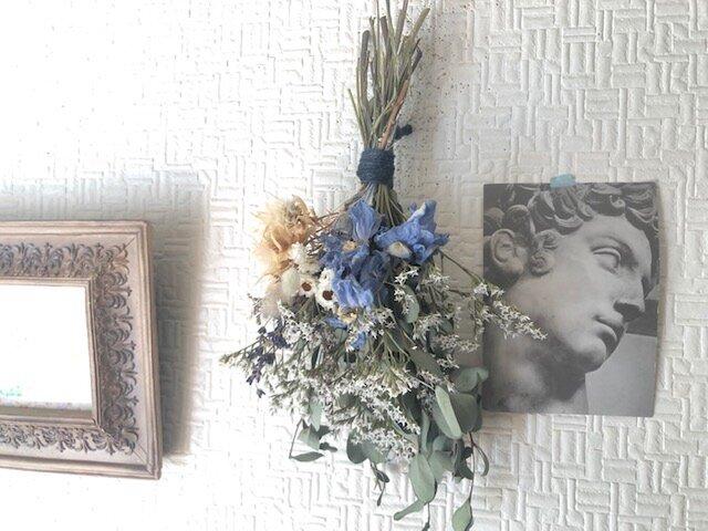 Post Card Bouquet Blueの画像1枚目