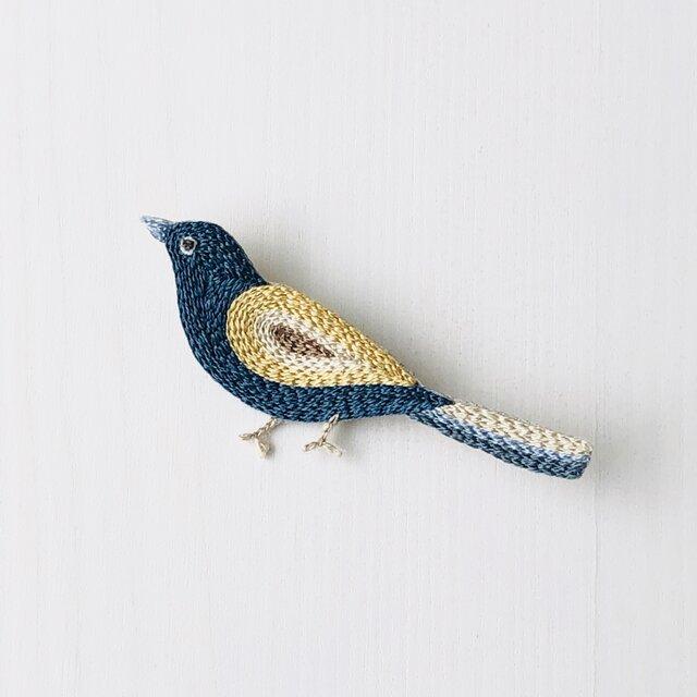 Little bird  刺繍のブローチ Sの画像1枚目