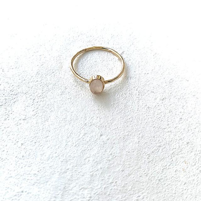 十金小型天然石入縦槌目指輪紅水晶 rr-79-roの画像1枚目