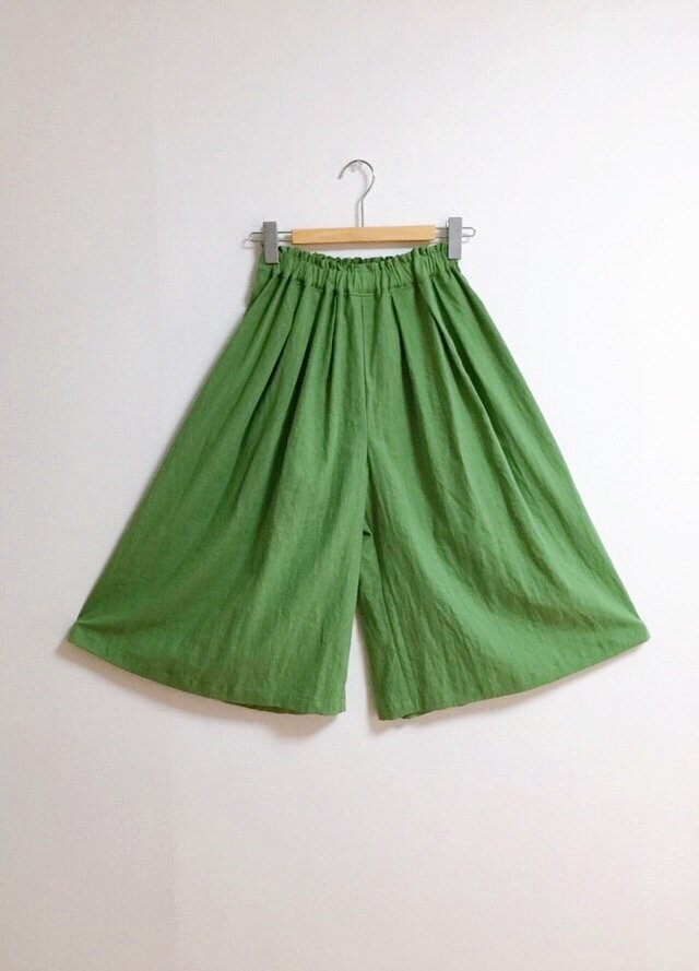 【ゆったりサイズ】cottonリネンのスカーチョの画像1枚目