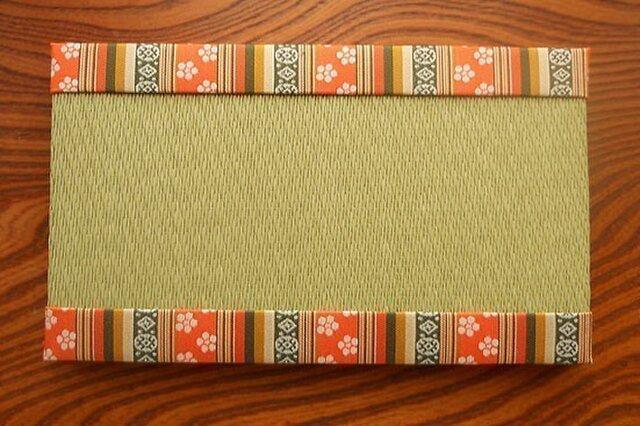 装飾ミニ畳~相良間道 桐生織~綾波新緑色の画像1枚目