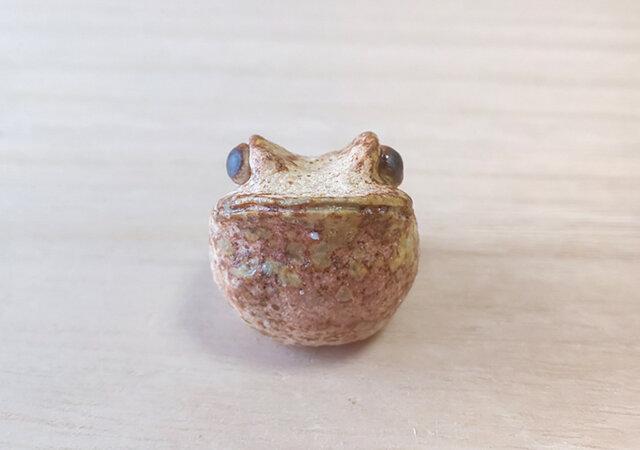 ちびカエル*焼き締めカエルの画像1枚目