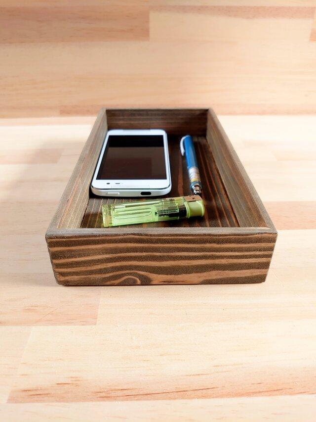 レトロ風な小物入れ、木製、天然木の画像1枚目