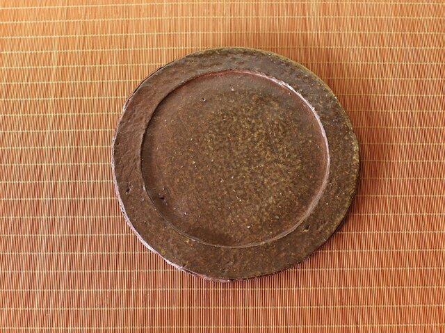 備前焼 皿(約20.5cm) sr4-060の画像1枚目