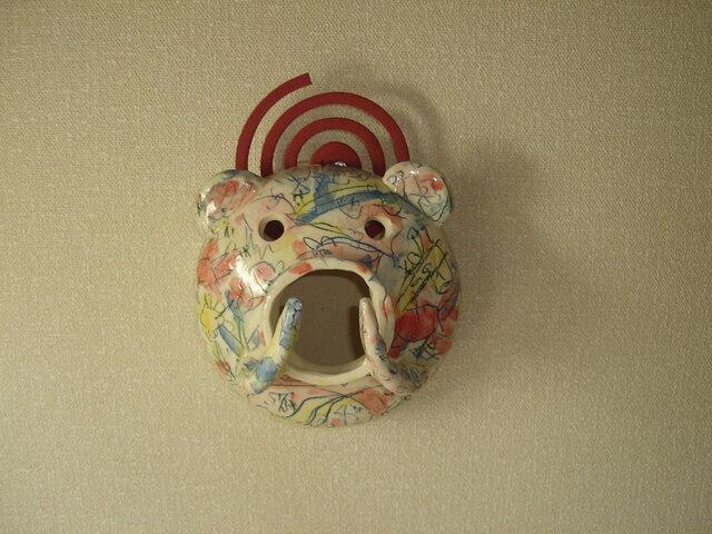 壁掛け式蚊遣り豚の画像1枚目