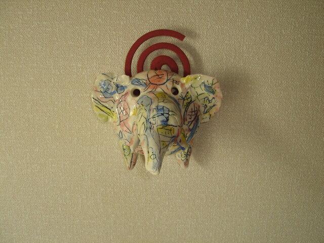壁掛け式蚊遣りゾウ(ミニ)の画像1枚目