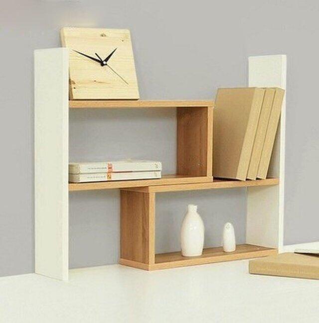 オーダーメイド 職人手作り デスク収納 本棚 伸張式 オフィス家具 白家具 北欧モダン 天然木 家具 サイズオーダー可の画像1枚目