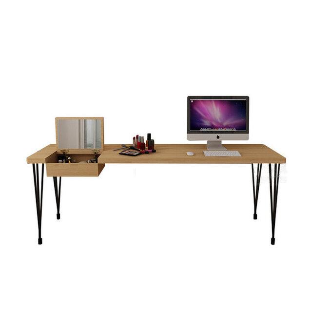 オーダーメイド 職人手作り ドレッサー 化粧台 北欧モダン インダストリアル アイアンウッド テーブル サイズオーダー可の画像1枚目